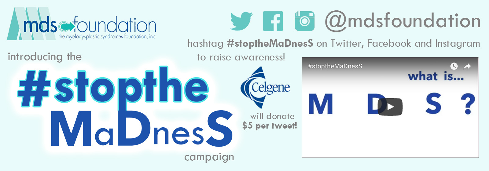 Stop The #MaDnesS banner