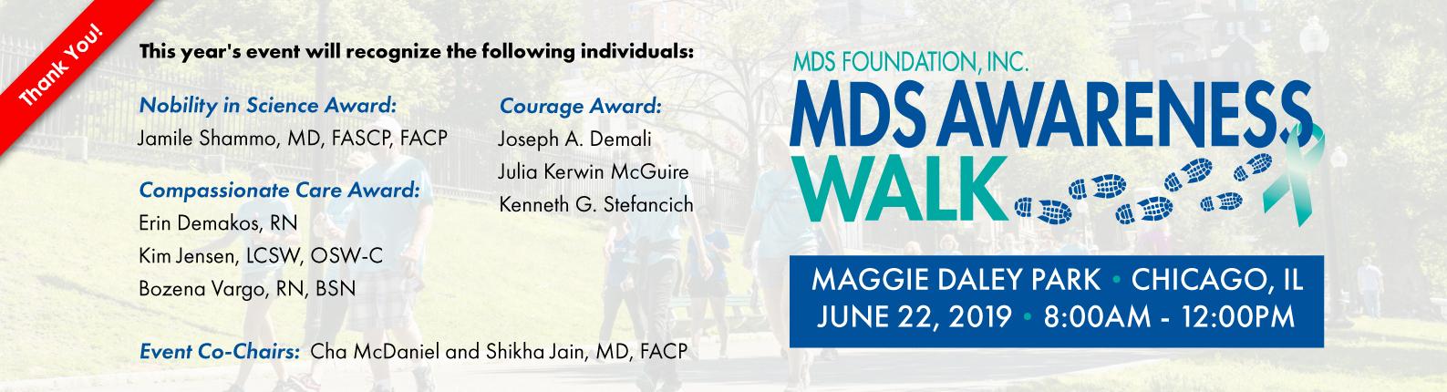 MDS Walk Banner