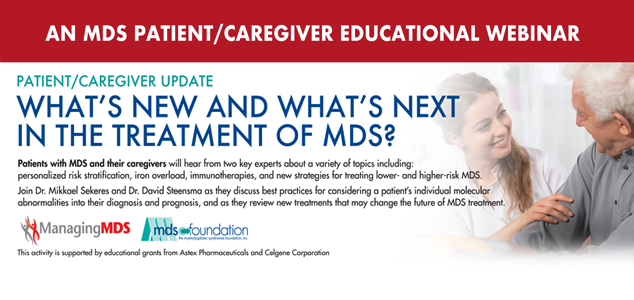 What Is Mds >> Mds Foundation Mds Is A Bone Marrow Failure Disorder